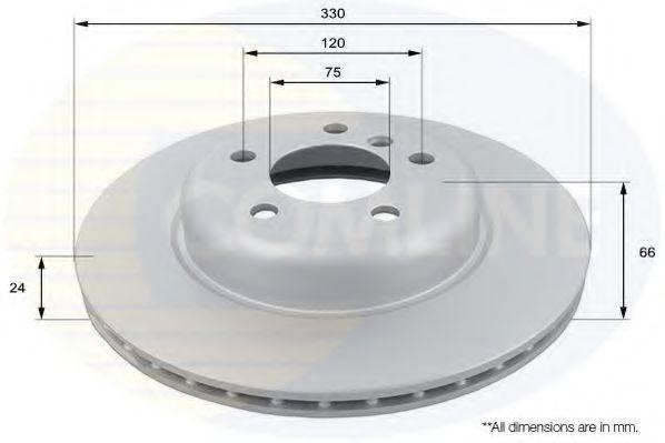Disc frana BMW Seria 5 (F10, F18) (2009 - 2016) COMLINE ADC1781V foto mare