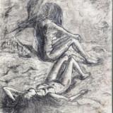 """Tablou, """" Nimfe pe plaja """",  publicata in albumul Timpul lui Otto Briese, Nud, Carbune, Altul"""
