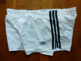 Pantaloni scurti vintage luciosi Adidas Made in Germany; marime S/M, vezi dim.