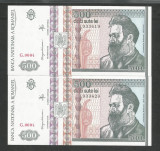 ROMANIA  500  LEI  1992  UNC [02] Serii Consecutive ,  Filigran FATA  pret / lot