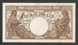 ROMANIA  2000  2.000 LEI   2  MAI  1944  [1]  VF ,  Filigram  BNR  in  Scut