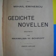 HOPCT MIHAI EMINESCU POEZII-IN LB GERMANA BUCURESTI 1923-290 PAGINI LEGATE -RARA
