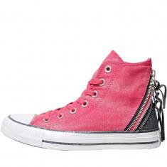 Tenesi Converse Womens CT All Star Hi Triple Zip marimea 36, Roz, Textil
