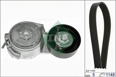 Set curea transmisie cu caneluri FIAT PUNTO (188) (1999 - 2016) INA 529 0013 10 foto