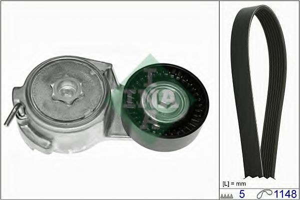 Set curea transmisie cu caneluri FIAT PUNTO (188) (1999 - 2016) INA 529 0013 10