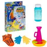 Set fotbal cu baloane de sapun, 5 accesorii incluse, joc copii