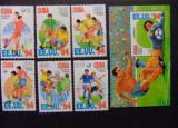 Cuba, fotbal, CM din SUA, serie si bloc, 1994, MNH, Nestampilat