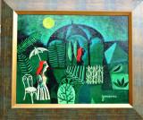"""Tablou, Valeriu Gonceariuc, """" Chioscul cu muzica """", ulei/panza, datat 2016, Abstract, Suprarealism"""