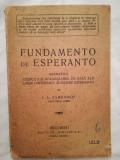 Cumpara ieftin Fundamentele Esperanto, L. L. Zamenhof, Ed Bibliofila, lingvistica, interbelica