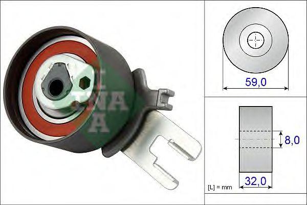 Rola intinzator,curea distributie VOLVO V70 II (SW) (2000 - 2007) INA 531 0859 10