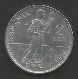 ROMANIA  2  LEI  1910   [1]  Argint 835 / 1000 ,  XF  ,  livrare  in  cartonas
