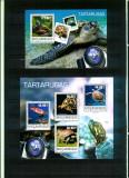 Mozambic 2014 - Fauna marina - TESTOASE - BL + serie (KB) - nestampilate, Nestampilat