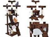 Ansamblu de joaca pentru pisici Maro/Alb 170cm
