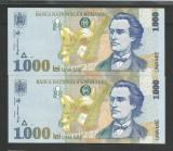 ROMANIA  1000 1.000 LEI  1998  UNC  [0]  Filigran  BNR  MARE , Serii Consecutive