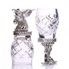 Set 2 Pahare Vodka Rooster by Chinelli made in Italy