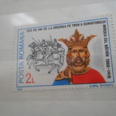 1986  LP 1161   600 DE ANI DE LA URCAREA PE TRON A DOMNITORULUI MIRCEA CEL B