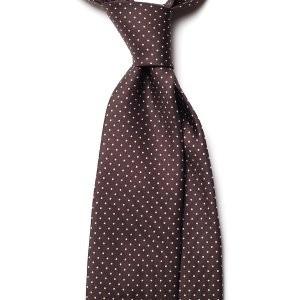 Cravata Handmade Seven Fold din Matase Naturala cu Model Pin Dot foto