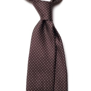 Cravata Handmade Seven Fold din Matase Naturala cu Model Pin Dot foto mare