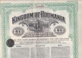 10 lire aur 1922 Imprumutul de stat Romania renta de stat, Romania 1900 - 1950