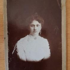 CVD foto carton veche Bernhard Moorys, R Sărat, fotografie de colectie