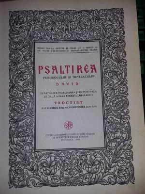 Carte veche ortodoxa,1998,PSALTIREA Prorocului si Imparatului DAVID,Trs.GRATUIT foto