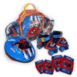 Patine cu rotile reglabile, protectii si casca Spider-Man, Marime 24-29, Saica