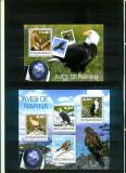 Mozambic 2014 - Fauna - PASARI DE PRADA - BL + serie (KB) - nestampilate, Nestampilat