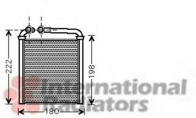 Radiator incalzire interior VW PASSAT (3C2) (2005 - 2010) VAN WEZEL 58006256 foto