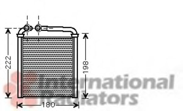 Radiator incalzire interior VW PASSAT (3C2) (2005 - 2010) VAN WEZEL 58006256