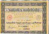 Soieries Noirivoir actiune 500 franci 1930  FRANTA tesatorie, Europa