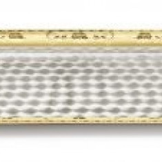 Tava VASSOIO cu maner placata cu argint si aur galben 45 x 32 cm by Chinelli made in Italy