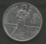 ROMANIA  2  LEI  1911   [1]  Argint 835 / 1000 ,  VF+  ,  livrare  in  cartonas