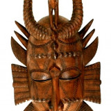 Masca Africana Senufo de dimensiuni mari, cioplita in lemn