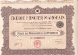 Credit Foncier Marocain  actiune fondator  1920  FRANTA Maroc bancar, Europa