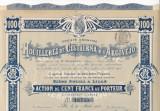 Houilleres de Cistierna & d'Argovejo actiune 100 franci 1905 Franta minerit, Europa