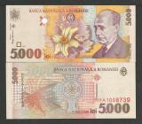 ROMANIA 5000 5.000 LEI  1998  UNC  [1]  Filigran  BNR  MIC - DREPT