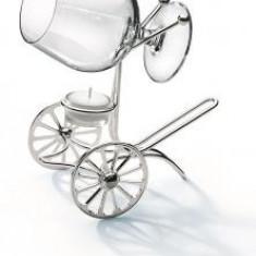 Incalzitor de cognac Chinelli Wheels placat cu argint