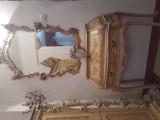 Secretaire/masa de toaleta  cu oglinda stil baroc venetian,raritati, Consola, 1900 - 1949