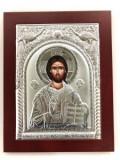 Icoana Iisus Hristos placata cu Argint