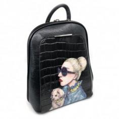 Rucsac Piele Gaga Mademoiselle Noir