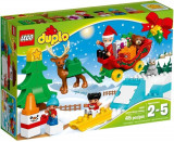 LEGO DUPLO, Vacanta de iarna cu Mos Craciun 10837