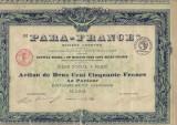 Para-France  actiune 200 franci 1925  FRANTA bancar?, Europa
