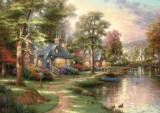 Puzzle Casuta langa lac, 1500 piese, Schmidt