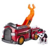Set de joaca Marshall si masina de pompieri cu cleste Mission Paw Patrula Catelusilor