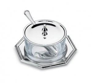 Bol argintat pentru zahar parmezan by Chinelli made in Italy