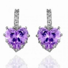 Cercei Borealy Sapphire Heart Purple