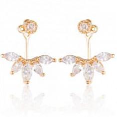 Cercei Borealy Crystal Gold Anchor