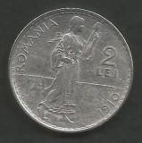 ROMANIA  2  LEI  1910   [2]  Argint 835 / 1000 ,  XF  ,  livrare  in  cartonas