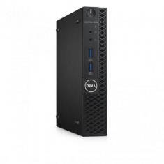 Sistem Desktop Dell OptiPlex 3050 Micro, Intel HD Graphics 630, RAM 8GB, SSD 256GB, Intel Core i5-7500T, Windows 10 Pro