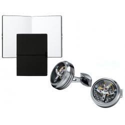 Set Butoni Tourbillon Luxury Silver si Note pad Black Hugo Boss